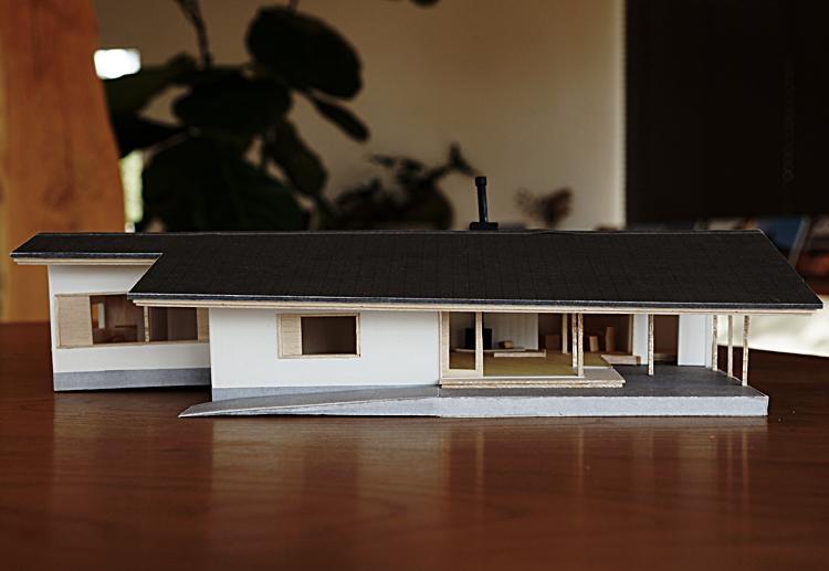 土間のある平屋の家