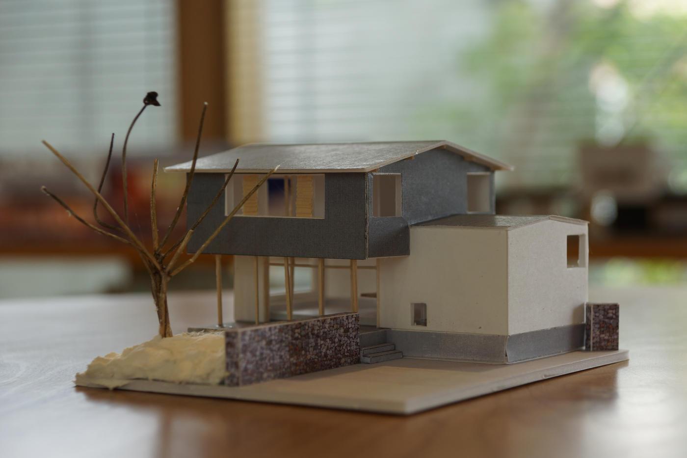 桜のある家